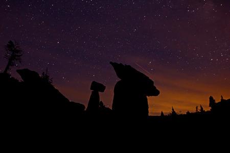 starscape ancient stones night view