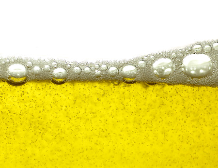 yello: Yello beer bubbles background Stock Photo