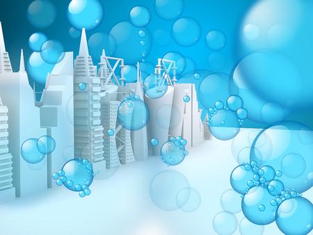 skylines: Bubbles on 3d Skylines