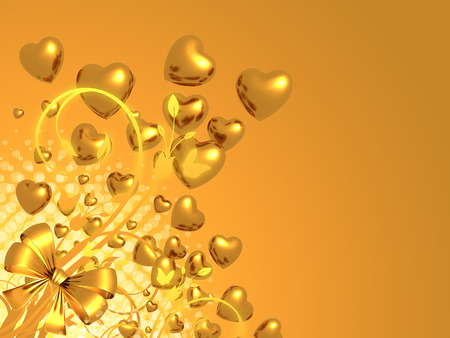 golden love background photo
