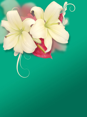 florish: green florish background Stock Photo