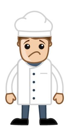 irritate: Sad Cartoon Vector Chef