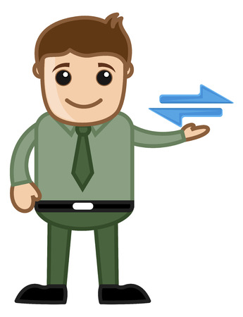 connectivity: Cartoon Man Showing Connectivity Sign Vector