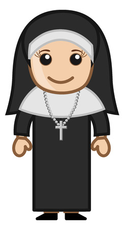 Cute Holy Nun - Vector Vector