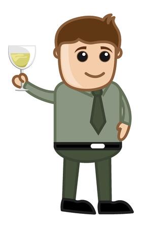 Man Having Drink Vector