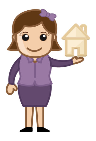 investment concept: Cartoon Character - Real Estate - Investment Concept