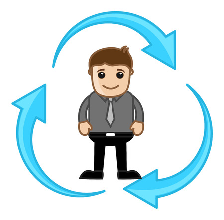 character illustration: Process - Vector Character Illustration