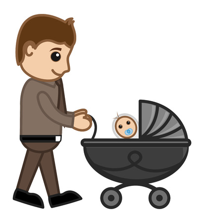 New Dad - Vector Character Cartoon Illustration Vector