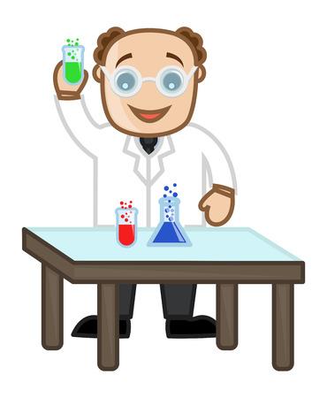 Scientist - Vector Character Cartoon Illustration Vector