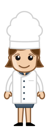 Lady Chef - Vector Character Cartoon Illustration Vector