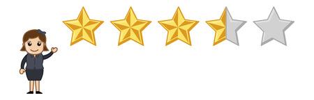 star rating: stelle - vettore di carattere cartone animato Vettoriali