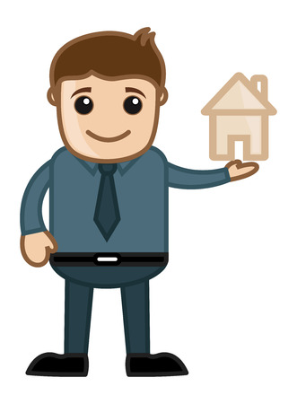 Home Dream Concept - Vector Character Cartoon Illustration Vector