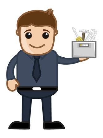 repairing: Repairing Concept - Vector Character Cartoon Illustration Illustration