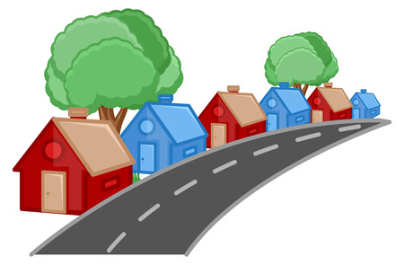 house under construction: House - Real Estate Concept - Vector Character Cartoon Illustration