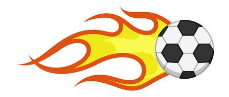 Cartoon Vector - Burning Flame Football Vector