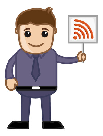 RSS Sign - Cartoon Vector Vector
