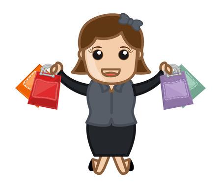 Shopping Offers - Cartoon Vector Vector