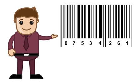 Barcode - Cartoon Vector Vector
