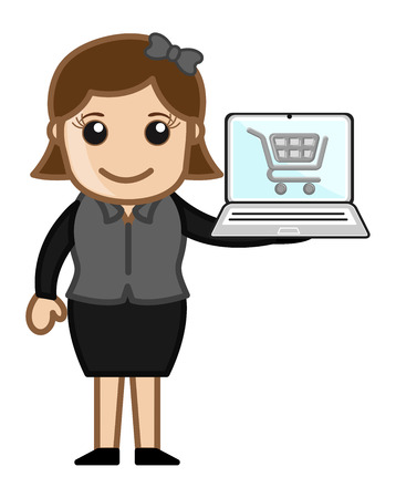 Online Shopping - Cartoon Vector Vector