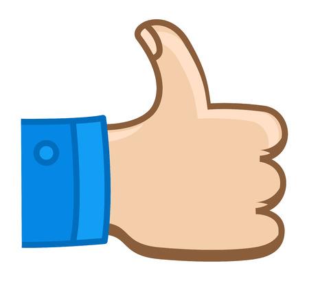 cartoon hands: Thumbs Up - Cartoon Vector Illustration