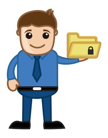 Secure Directory - Cartoon Vector Vector