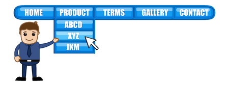 categories: Web Menu - Cartoon Vector
