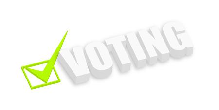 voting: 3d Voting Text