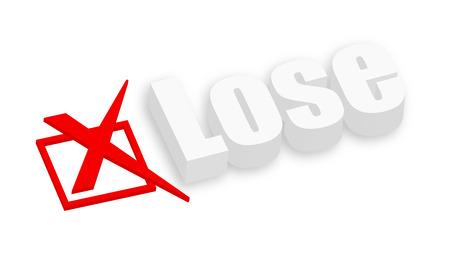 deselect: 3d Lose Text