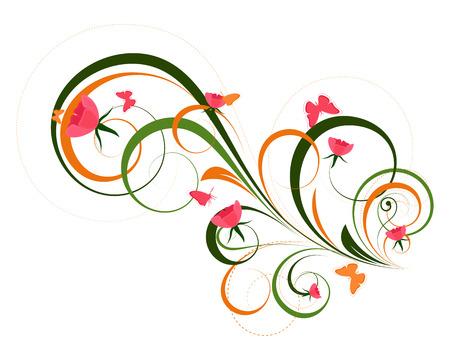 Decorative Artistic Floral Designs Vector