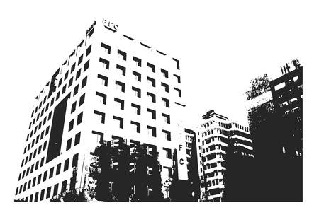 urban building: Urban Building Illustration