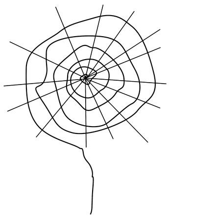 halloween spider: Halloween Spider Web Illustration