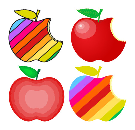 Colorful Apples Designs Vector