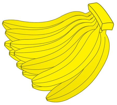dozen: Dozen Bananas Illustration