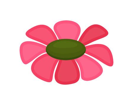 dessin fleur: Dessin Fleur rose Illustration