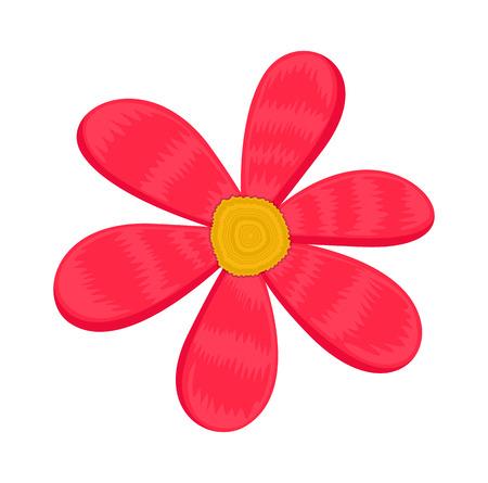 pink flower: Pink Flower Design Vector Illustration
