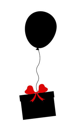 Balloon Flying with Gift Box Vector