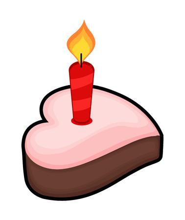 valentine          s day candy: Heart Cake illustration  Illustration