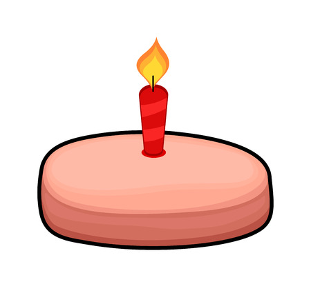 valentine          s day candy: Cake with Candle