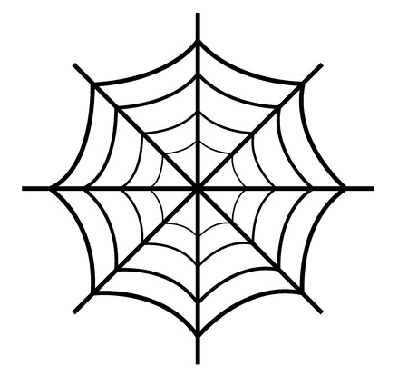 Spider Web Retro Design Vector
