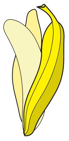 shake off: Peel Off Banana Drawing Vector