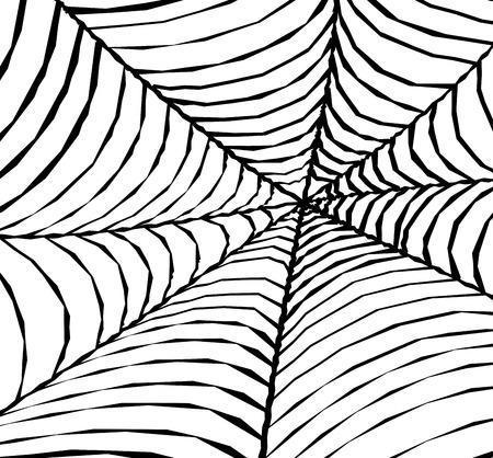 spinnennetz: Abstrakt Cobweb Background Design Illustration