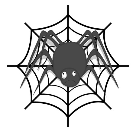 Spider with Web Vector Vector