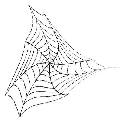 Halloween Spider Web Element Vector