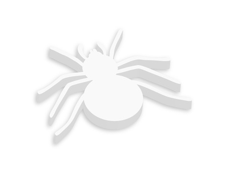 White 3d Spider Vector