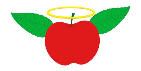 Angel Apple Vector