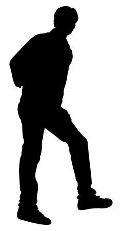 standing man: Standing Man Pose Illustration