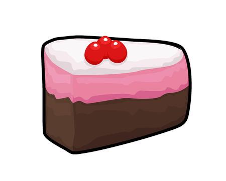 vanilla cake: Chocolate Vanilla Cake Slice