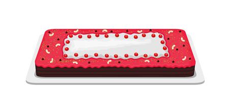 valentine          s day candy: Decorative Cake Illustration