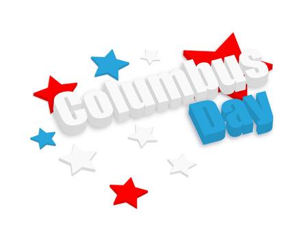 columbus: Columbus Day 3d Text