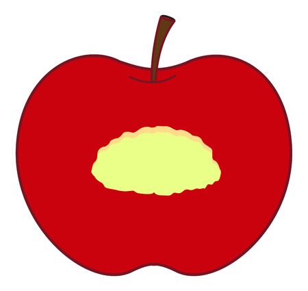 eaten: Eaten Apple Illustration